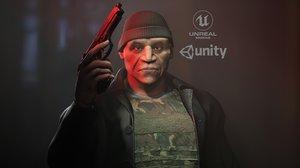 character unreal unity 3D model