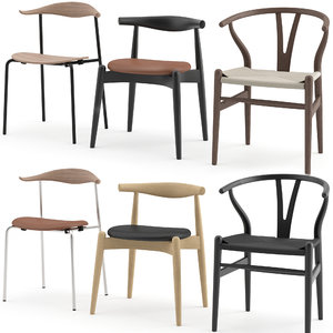 3D chairs hans wegner