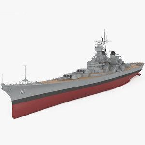 3D iowa-class battleship class