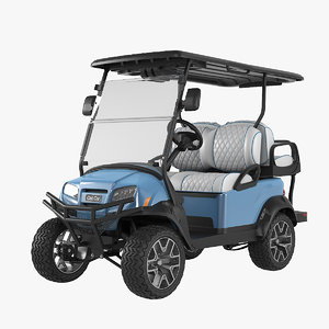 3D realistic golf car ice model