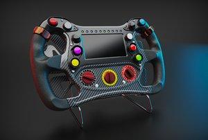steering wheel formula 3D model
