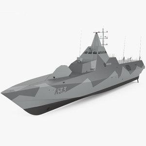 visby-class visby class 3D model