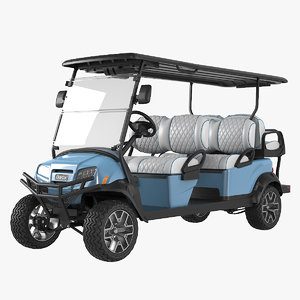 realistic golf car ice 3D model