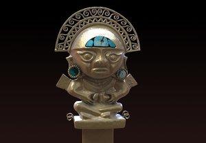 3D model incan idol