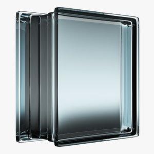 3D model glass block 1