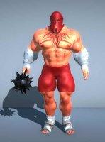 3D giant gladiator -