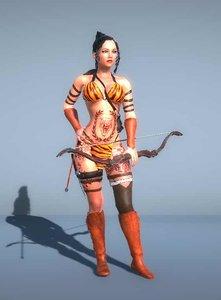 woman gladiator bow - model