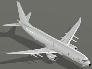 3D multimission aircraft p-8a poseidon model