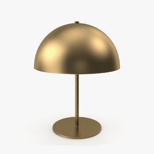 brass table lamp light 3D model