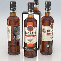 Alcohol Bottle Bacardi Spiced Rum&Spices Spirit Drink 700ml 2020