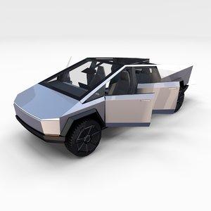 tesla cybertruck interior 3D model