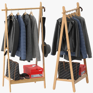 langria foldable bamboo clothes 3D model