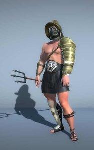 gladiator trident - 3D model