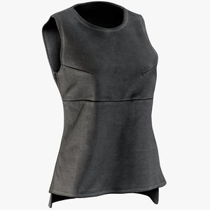 realistic women s vest 3D