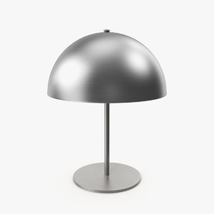 chrome table lamp 3D