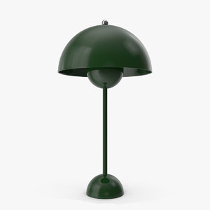 3D flowerpot table lamp green