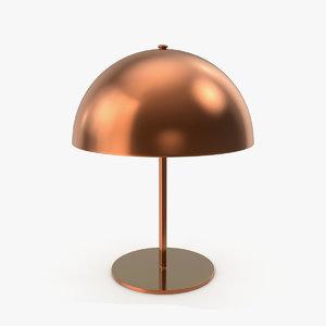 3D model copper table lamp