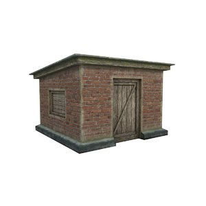 brick barn 3D model