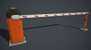 3D pbr automatic traffic barrier