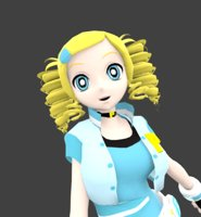 girl super bubbles 3D model