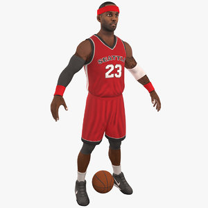 3D basketball player 8k ball model