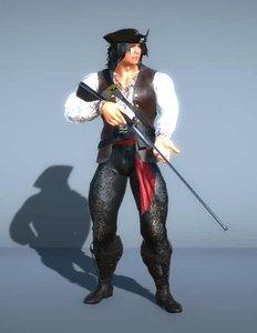 3D pirate gun -
