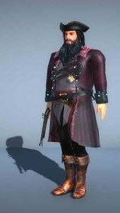3D pirate captain -
