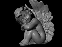 seated angel angelo seduto