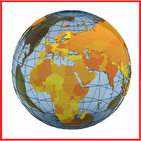 Geopolitical Earth Globe (Countries and continents)
