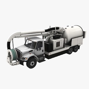 3D navistar international 7400 jetter