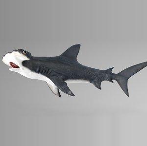 3D hammerhead shark rigged l596