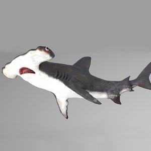 hammerhead shark rigged l594 3D model