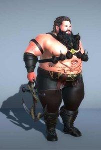 3D fat pirate grenades -