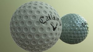 3D golf ball callaway low-poly model
