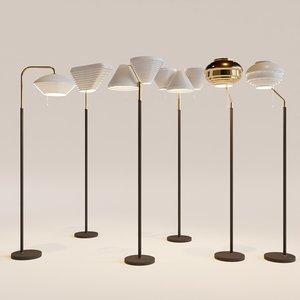 artek floor lamps aalto 3D