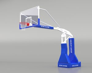 portable basketball stand 3D
