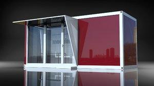 3D modular office model