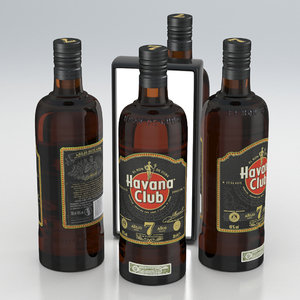 3D alcohol bottle rum