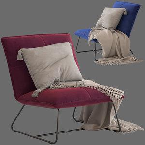 chartwell home freyr armchair 3D model