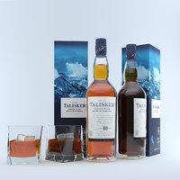 talisker whiskey glass ice model