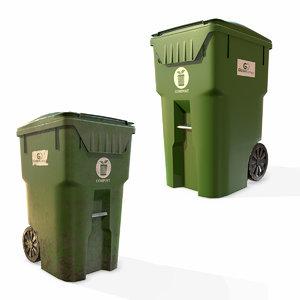 plastic trash bin garbage 3D