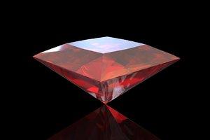 brilliant red 3D model