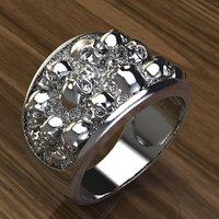 skulls ring 3D model