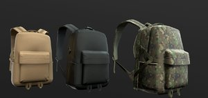 3D backpack 2 lod color