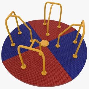 carousel ride playground 3D