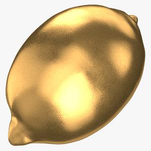 lemon 01 gold 3D model