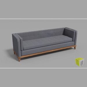 3D triple seat sofa