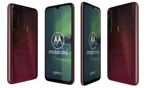 motorola moto g8 dark red 3D model
