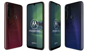 3D motorola moto g8 dark red