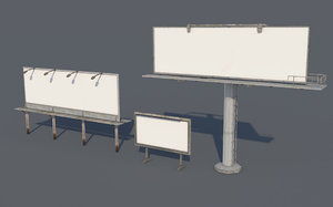 billboard pack 3D model